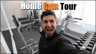 *EXCLUSIVE* Alpha M. Home Gym Tour!