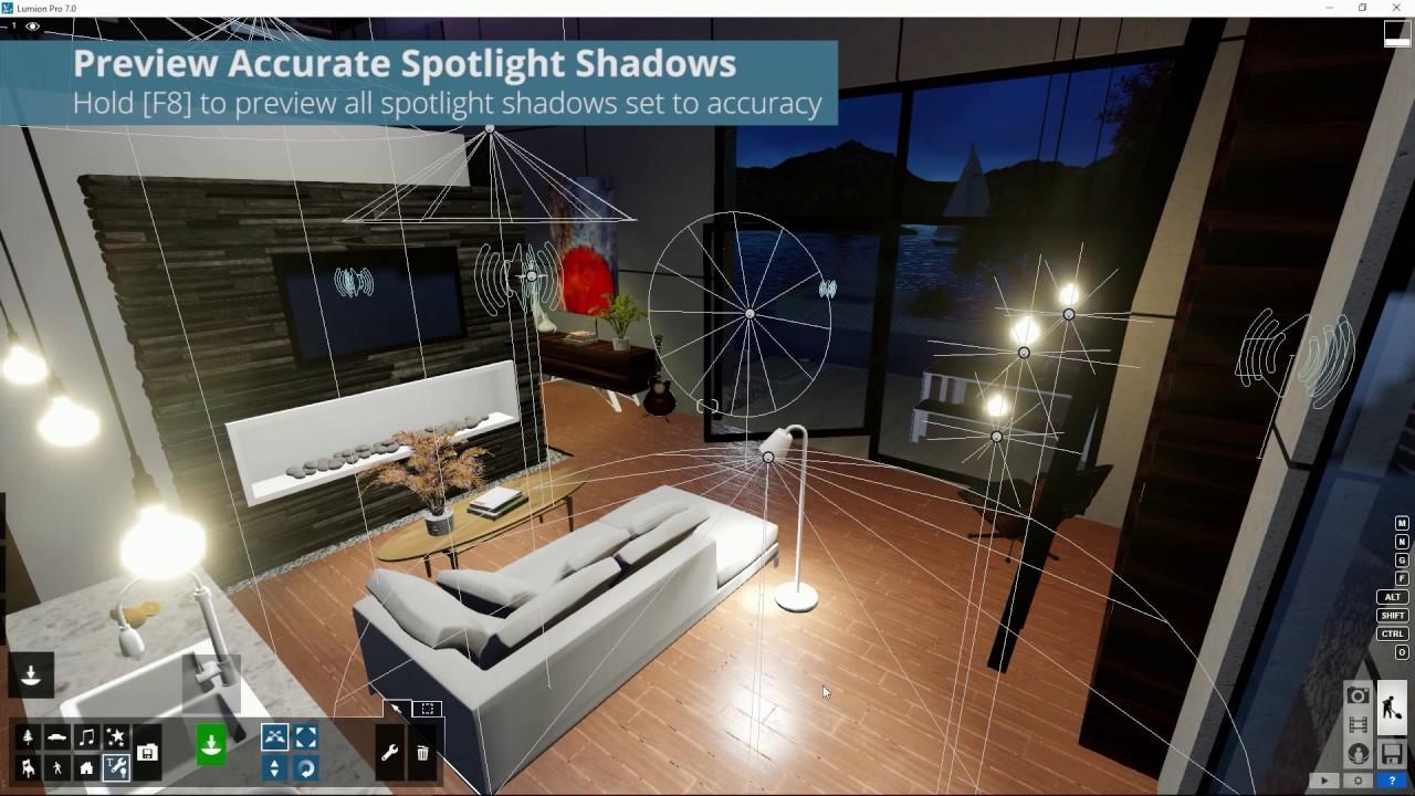 ヒントとコツ:照明の正確な影のプレビュー [F8](Lumion7 series)