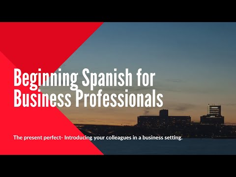 Beginning Spanish- - Introducing your colleagues in Spanish!