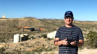 Drone Flying Over West Texas