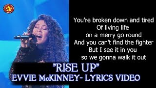 "Evvie McKinney ""Rise Up"" Lyrics Video The Four Season 1 HQ audio (HD)"