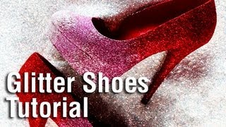 DIY Holiday Glitter Shoes using Tulip Fashion Glitter!