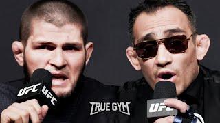 Пресс конференция Хабиб Нурмагомедов - Тони Фергюсон перед боем на UFC 249 РУССКАЯ ОЗВУЧКА