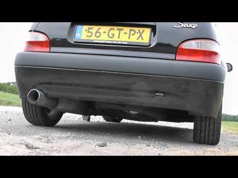 Citroen Saxo 1.6 VTS Exhaust Sound