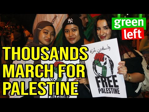 Thousands march for JUSTICE for Palestine