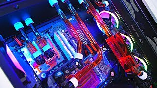 EPIC $4600 AUD Custom Water Cooled AMD Gaming PC Build - Ultimate Time Lapse 2018