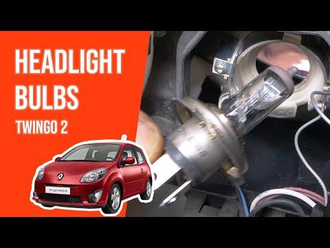 How to replace the headlight bulbs TWINGO 2 💡