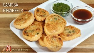 Samosa Pinwheels - Indian Gourmet Appetizer Recipe by