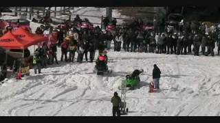 preview picture of video 'Edelweiss Ski Hill Snowmobile Drags Part 3'