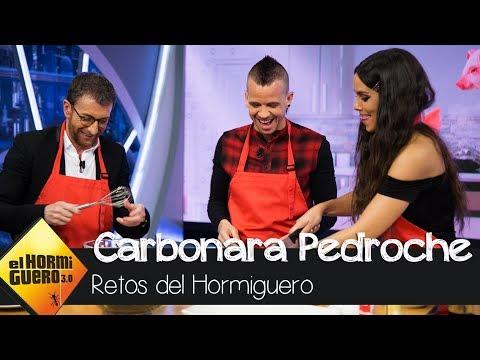 """""""Carbonara Pedroche"""" de la mano de Dabiz Muñoz, Cristina Pedroche - El Hormiguero 3.0"""