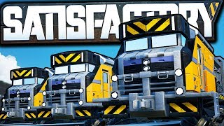 BIGGEST Train Setup Yet: 32 Locomotives, 80 Freight Cars! - Satisfactory Early Access Gameplay Ep 52