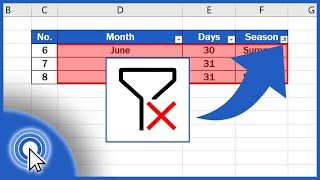 How to Clear or Remove Filter in Excel