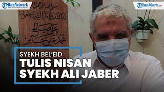 Nisan Syekh Ali Jaber Ditulis Kaligrafer Internasional Bersanad Rasulullah