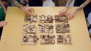Adam Savage Assembles the Maker Puzzle!