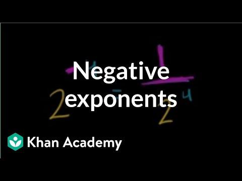 Negative exponents (video) | Khan Academy