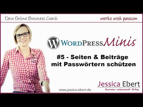 WP Minis #5 - Passwortgeschützter Bereich in Wordpress / Seite mit Passwort schützen (видео)