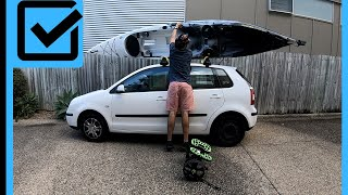 How to Load and Tie Down a Kayak on a Small Car without kayak carriers
