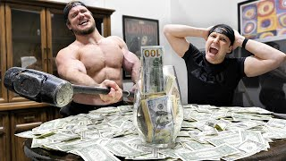 Hiding $10,000 Inside A Rage Room With Strangers!!