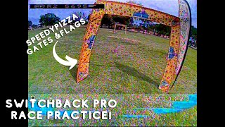 SpeedyPizza Drone Gates & Flags Race Practice...... SwitchBack Pro!