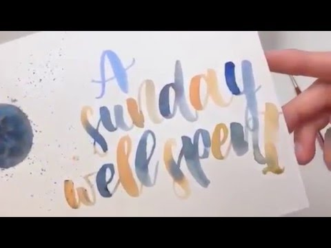 #letterattack Lettering Lessons - Brush Lettering mit Brusho Crystal Colours
