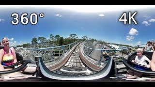 Cannonball Run 360° front seat on-ride 4K POV Waterville USA