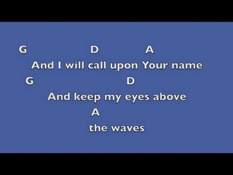 Oceans (where feet may fail) [Key: D]- Lyrics & Chords