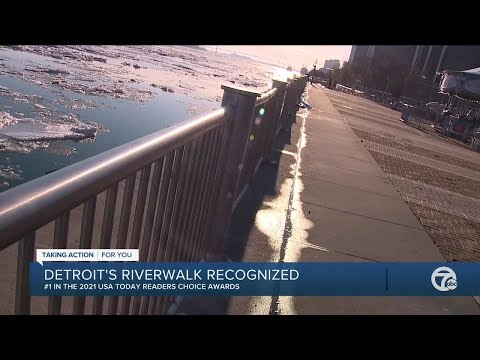 Detroit Riverwalk named best riverwalk in America in USA Today's Readers' Choice Awards