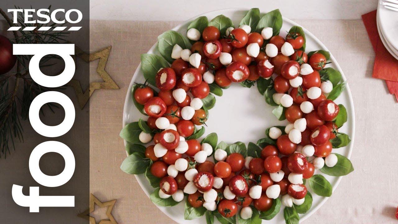 How to make a Christmas Caprese wreath