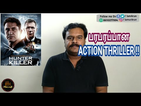 Hunter killer (2018) Hollywood Action Thriller Movie Review in Tamil by Filmi craft
