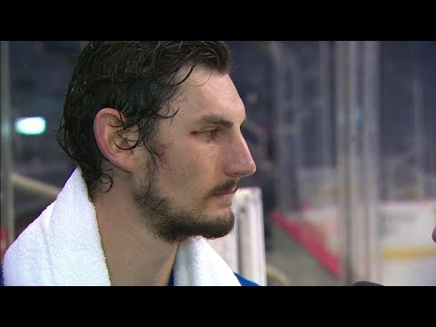 Hellebuyck gives an update on eye and talks playoff mindset for Jets