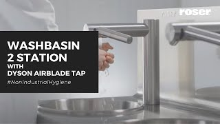 COMPACT WASHBASIN WITH DYSON AIRBLADE TAP