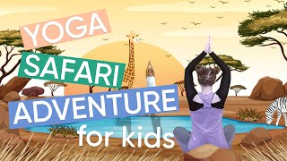 5 Minute Yoga Routine for Kids - Safari Adventure! | Channel Mum