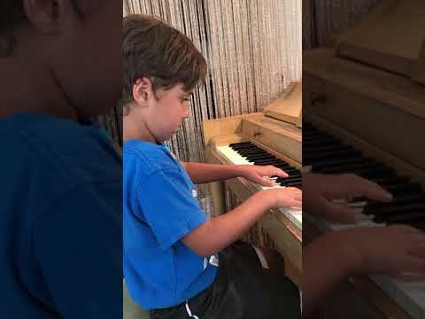 Lesson with 6 year old, Oren, who's main interest is JAZZ MUSIC!