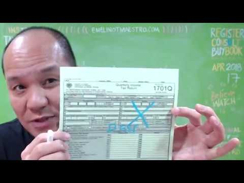 BIR Form 1701Q  for 8% Gross Income Taxation (Filling Up Correctly)