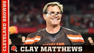 Clay Matthews Ring Of Honor Induction Ceremony | Cleveland Browns