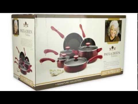 Paula Deen 15-Piece Cookware Set Nonstick | 10419-PDEAN | 12512-PDEAN