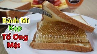 Lâm Vlog - Lần Đầu Ăn Thử Bánh Mì Kẹp Tổ Ong Mật   Honeycomb