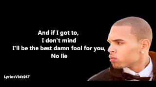 Stuck On Stupid Lyrics - Chris Brown // HD