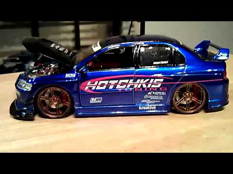Jada Toys Import Racer Option D Hotchkis Mitsubishi Lancer Evolution VIII 1:24 Diecast Model