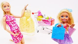 Шоппинг с Барби! Идем в магазин с Барби и Челси