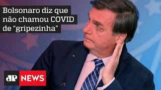 Bolsonaro volta a criticar isolamento social e o uso de máscaras contra Covid-19