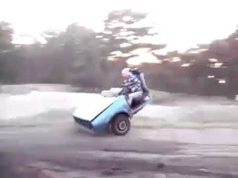 Its called having fun with your 2 wheels Car - LOL...