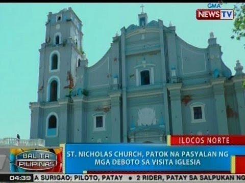 [GMA] BP: St. Nicholas Church, patok na pasyalan ng mga deboto sa Visita Iglesia
