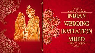 Indian Wedding Invitation Video | WhatsApp Invitation Video | Latest Wedding Templates