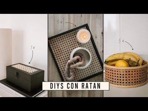 DIYs con REJILLA de RATÁN I Sencillos & económicos I HOME DECOR I