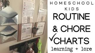 Homeschool Kids 👫Routine, Chore, Behavioral & Reward Charts 🗒Checklists ✔️ || 2018