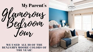 Tour My Parents 2020 Paint Color Of The Year Bedroom!