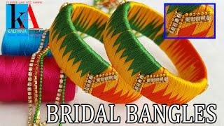 How to make zig zag weaving silk thread  bangles with multi colour silk thread