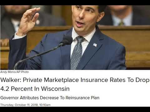 Walker has to keep fixing things he broke, like Health Care. | Opinion - Liberal