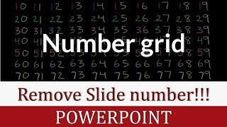 How to Remove Slide Numbers from PowerPoint Slides